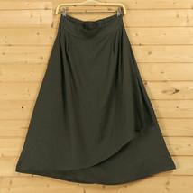 Cotton Linen Wrap Skirts Women A Line Long Casual Skirt, Khaki Army Green Black image 4