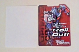 American Greetings Transformers Birthday Card It's Your Birthday-Roll Out! - $2.94