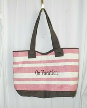 Thirty One Large On Vacation Embroidered Tote - $15.84