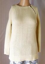 Ann Taylor LOFT Women's Sweater Size M - 100% Cotton Cable Knit Shoulder Zip - $14.95