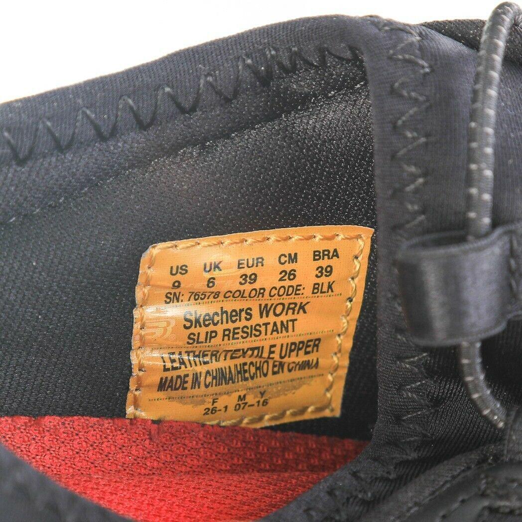 Skechers Work Black Relaxed Fit Fashion Sneakers Slip On Memory Foam Womens 9 image 6