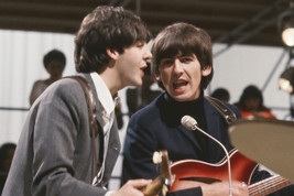 The Beatles John and George Singing & Playing Guitars in Concert 1964 24x18 Post - $23.99