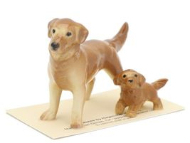 Hagen Renaker Miniature Dog Golden Retriever and Puppy Ceramic Figurine image 3