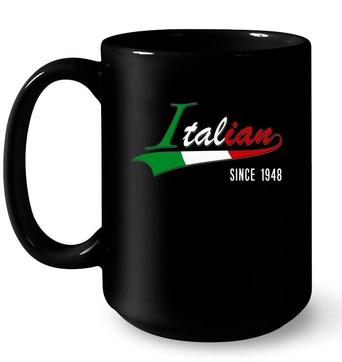 70th Birthday gif Italian since 1948 70 years old Gift Coffee Mug