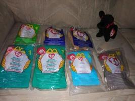Lot Of 8 TY Beanie Babies & Mcdonalds Teenies Cats & Dogs New Plush Bean... - $16.82