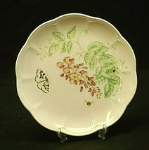 "Butterfly Meadow Eastern Tailed Blue by Lenox 9"" Luncheon Plate Floral Accents - $21.77"