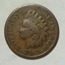 1869 Indian Head Penny / Cent Coin Lot# MZ 4704