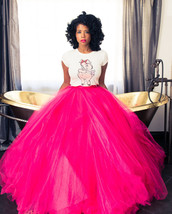 TUTU tulle plus size skirt long ankle formal MADE USA Ships 1 day Size 10 to 28 - $65.00