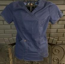 Dickies Nursing Scrub Top Blue Women's Small #2 - $5.99