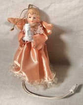 "VINTAGE 5"" LIGHTED ANGEL CHRISTMAS TREE ORNAMENT / TREE TOPPER - $28.70"
