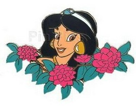 Jasmine  Among  Flowers Authentic Disney Auction Pin on original card - $49.99