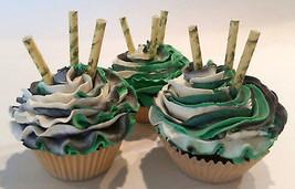 Camo Cupcakes Display Fake Cupcake- Set of 3 Home item Prop Staging Decoration - $16.82