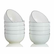 Ounce Porcelain Small Rice Bowl Set for Ice Cream Fruit-Salad Dip- White - $1.172,60 MXN