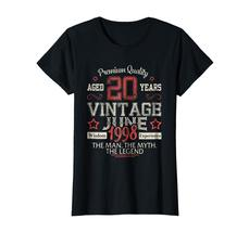 Uncle Shirts -   Vintage Legends Born In JUNE 1998 Aged 20 Years Old Being Wowen image 2