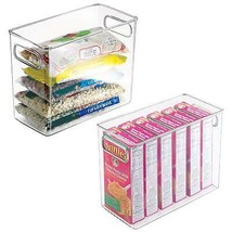 Cabinet Organizer Bins Storage Pantry Food Holder Refrigerator Freezer S... - $36.73