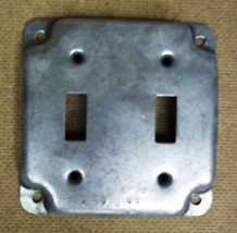 Raco 4in Square 2 Switch Cover Steel - $5.07