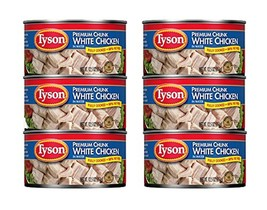 Tyson Foods Premium Chunk White Chicken 98% Fat Free, 12.5oz Can (Pack o... - $38.22