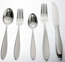 Wedgwood NEW OBERON 5 Piece Place Setting 18/10 Stainless Flatware New - $32.90