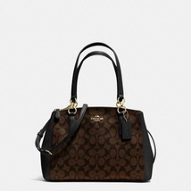 NWT Coach Signature Small Christie Carryall Satchel F58291 - Brown / Black - $158.95