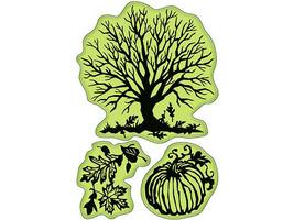 Inkadinkado Rubber Stamp Set, Papercut Fall #60-60160 image 2