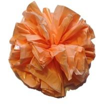 "25 Car Limo wedding Decoration Plastic Pom Poms Flower 4"" - peach - $4.94"