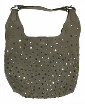 DKNY Wes Suede Stud Hobo Women's Handbag - Dark Beige #47 - $139.99