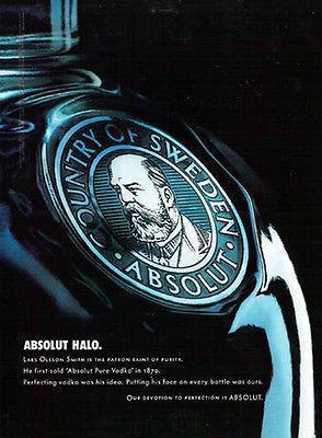 Absolut Halo 2003 Vodka Graphic Art Distillery Ad Lars Olsson Smith Sweden