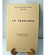LA TRAVIATA Metropolitan Opera Libretto Italian English 1961 book - $14.00