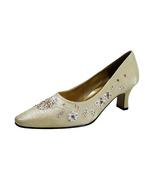 FLORAL Fern Women's Wide Width Dress Slip-On Satin Pumps - $34.95