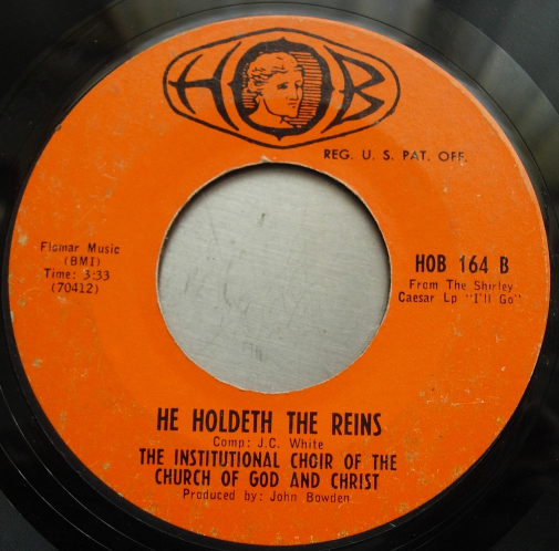 Institutional Choir of Church of God WHEN TROUBLE COMES - HOB 164