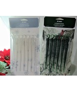 6x Pier 1 Winter Holiday Forest, Snowy Birch Scented Icicles Tree Ornaments - $6.64