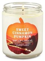 "Bath & Body Works ""Sweet Cinnamon Pumpkin"" 1 Wick Candle Brand New - $13.78"