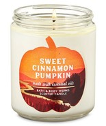 "Bath & Body Works ""SWEET CINNAMON PUMPKIN"" 1 Wick Candle Brand New - $13.78"