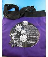 Shonen Jump Yu-Gi-Oh! Naruto Black Cat + Viz Media 2003 Purple Tote Bag ... - $9.69