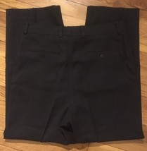 Giorgio Armani Le Collezioni Black Charcoal Wool Dress Pants Slacks 34 X... - $79.99