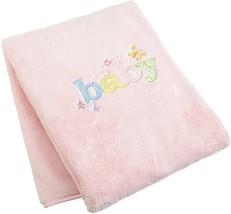 Carter's Pink Baby Blanket LARGE Fleece Butterfly Baby girl Blanket 30x4... - $16.95