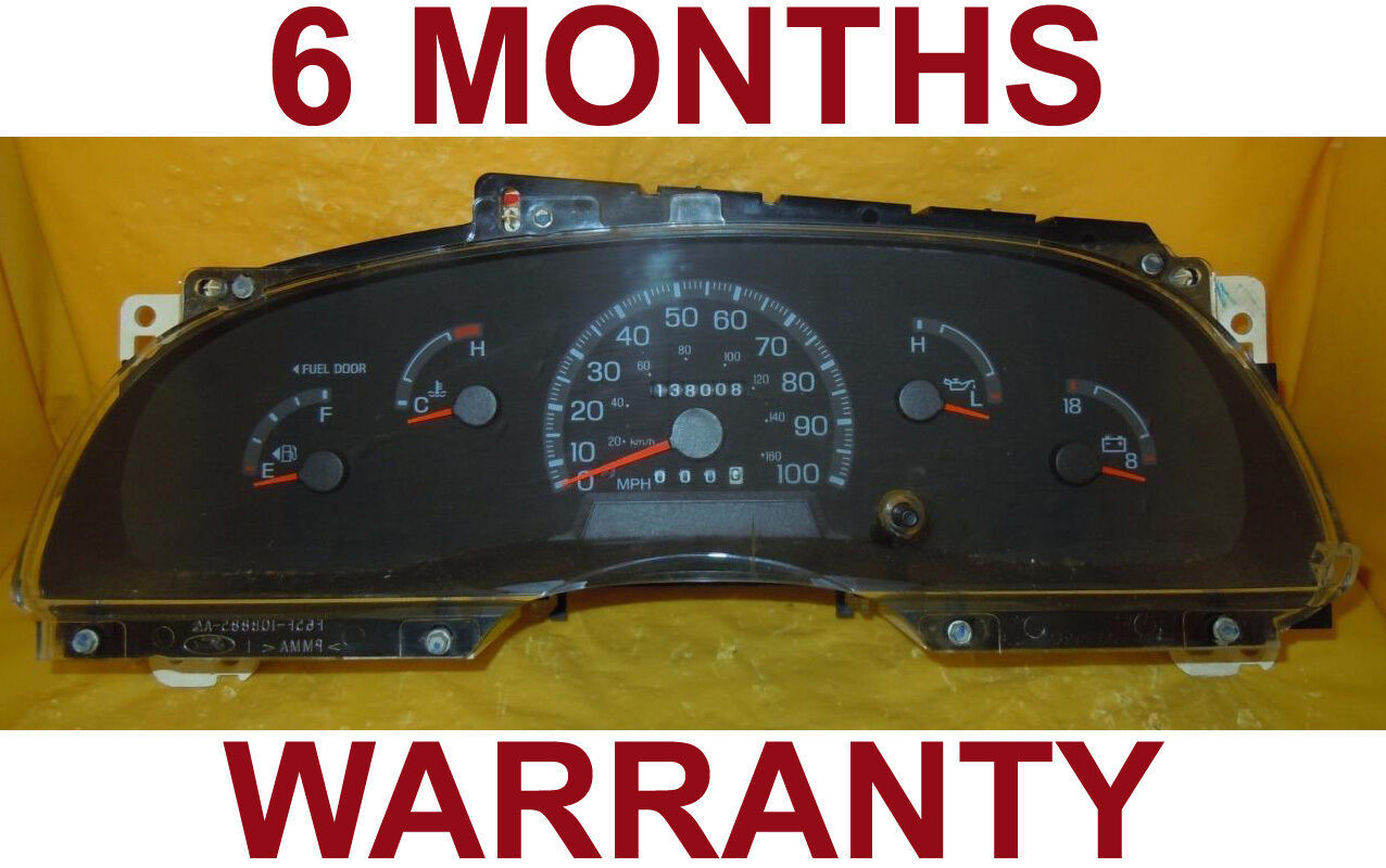 Primary image for 2002 Ford E350 Super Duty Van Econoline Gas  Instrument Cluster  - 6 MonthWarr