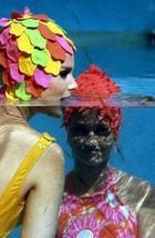 1966 BATHING BEAUTIES IN THE WATER STOCK PHOTO Original 35mm Slide gp - $4.90