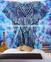 Indian Tie Dye Elephant Valentina Harper Ruby Asian Wall Hanging Wall Ta... - $23.36