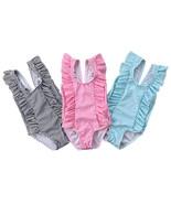StylesILove Baby Girl Ruffle Striped Swimsuit One-Piece - $14.99