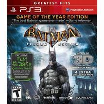 Batman Arkham Asylum Game of the Year Edition Greatest Hits - PS3 - LN - $9.89