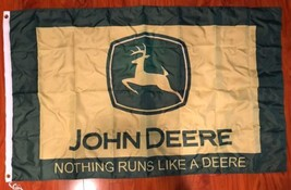 John Deere Tractor 3' X 5' Feet Polyester Flag Banner Man Cave Bar Shop NEW - $17.05