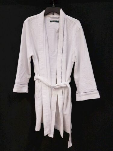 White Ralph Lauren Women Bath Spa Lounge Sleep Robe Sz Large