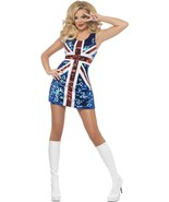 Fever All that Glitters Rule Britannia Costume, UK 12-14 - $49.88
