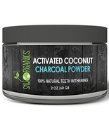 Sky Organics Activated Charcoal Teeth Whitening Powder 2oz Natural White... - $9.69