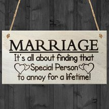 Finding Special Person For A Lifetime Hanging Plaque Novelty Marriage Sign  - $12.86