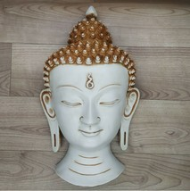 Buddha Mask Wall hanging Art Sculpture painting Mask wall Decor Religious  - $115.71