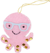Fabric Editions Needle Creations Felt Ornament Kit-Octopus - $8.10