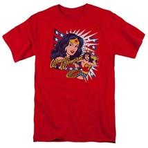 Wonder woman t shirt stripes star retro dc comicbook batman superhero tee dco606 thumb200