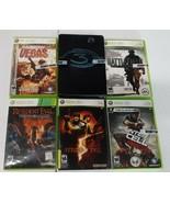LOT 6 XBOX 360 Halo 3 Resident Evil Splinter Cell Rainbow Six Vegas Batt... - $34.30
